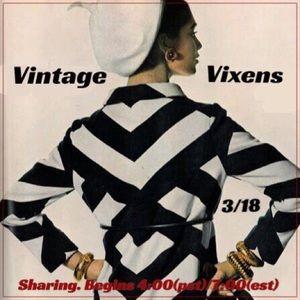 THURSDAY 3/18 Vintage Vixens Sign Up Sheet